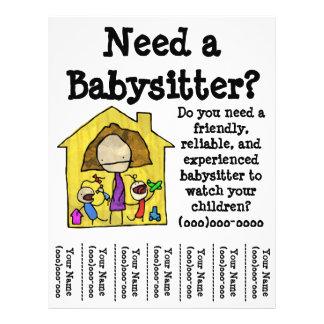 Insecto da baby-sitter modelos de panfleto