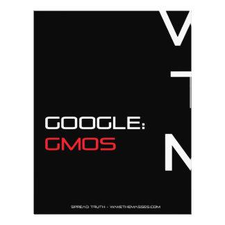 Insecto da consciência de Google GMOS Panfleto