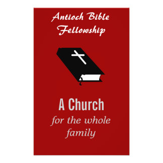 "Insecto da igreja cristã customizável "" flyer 13.97 x 21.59cm"