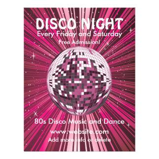 Insecto da música da noite do disco panfletos personalizado