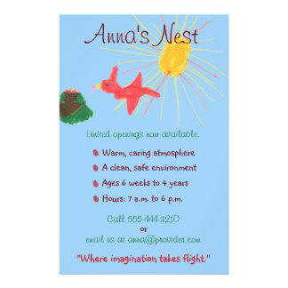 Insecto da puericultura panfleto personalizados