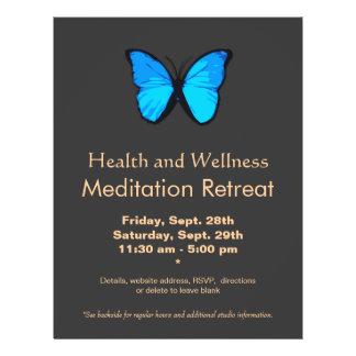 Insecto da saúde e do bem-estar das mulheres azuis modelo de panfleto