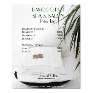 Insecto da tabela de preços A5 da massagem do salã Panfleto Personalizado