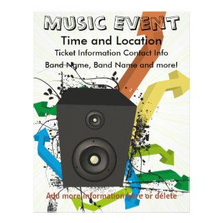 Insecto das setas do evento da música panfletos coloridos