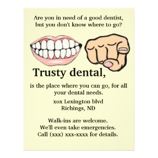 Insecto de propaganda dental panfleto personalizado