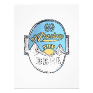 insecto do Alasca da cerveja do sol Modelo De Panfleto