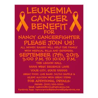 Insecto do benefício do cancer da leucemia modelo de panfletos