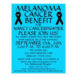Insecto do benefício do cancer da melanoma panfleto