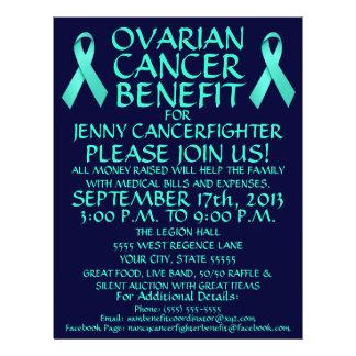 Insecto do benefício do câncer de ovário panfleto personalizado