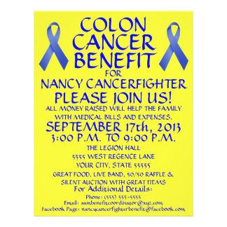Insecto do benefício do lutador do cancro do cólon panfletos coloridos