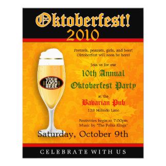 Insecto do convite do evento de Oktoberfest Panfleto Personalizado
