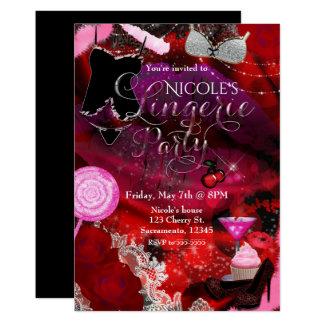 Insecto do convite dos partys girl da lingerie &