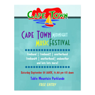 Insecto do costume do festival de música de Cape T Panfleto Personalizado