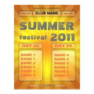 insecto do festival do verão panfleto coloridos