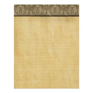 Insecto do fundo do papel da beira do damasco do v flyer 21.59 x 27.94cm