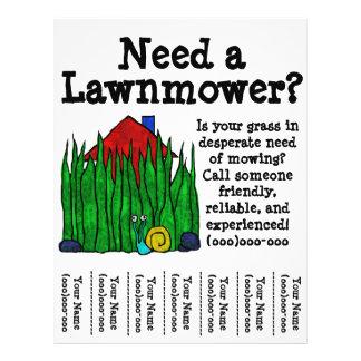 Insecto do Lawnmower Panfletos Personalizado