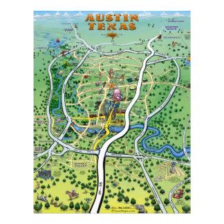 Insecto do mapa dos desenhos animados de Austin Flyer 21.59 X 27.94cm