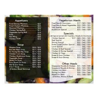 Insecto do menu do restaurante flyer 21.59 x 27.94cm