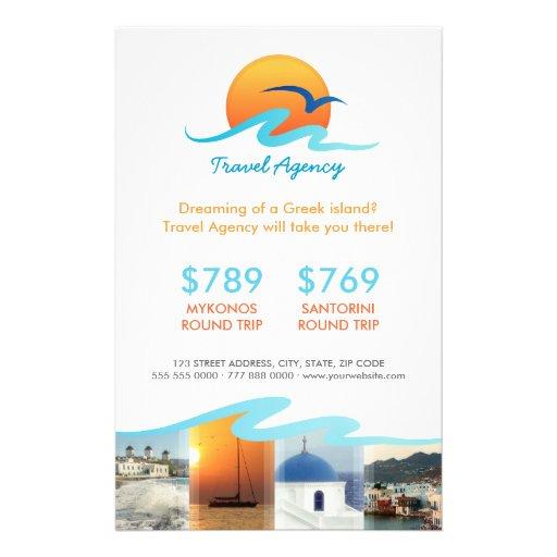 Insecto do operador turístico do turismo da agênci panfleto personalizados