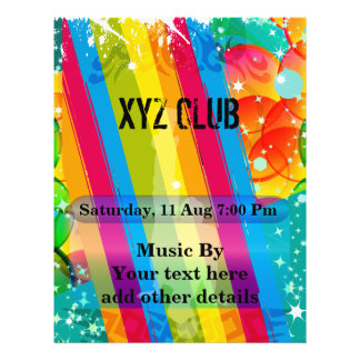Insecto do partido da música do clube de dança flyer 21.59 x 27.94cm