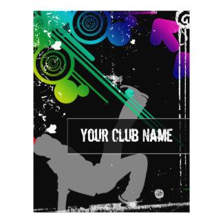 Insecto do partido do clube de dança panfleto coloridos