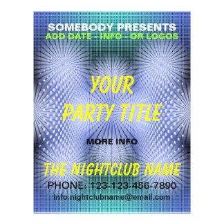 insecto do partido do clube nocturno panfletos coloridos