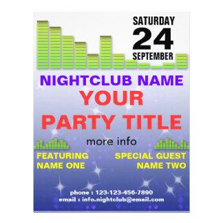 insecto do partido do clube nocturno panfletos