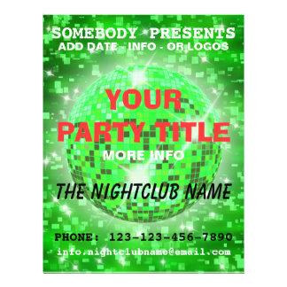insecto do partido do clube nocturno modelo de panfleto