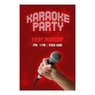 Insecto do partido do karaoke flyer 13.97 x 21.59cm