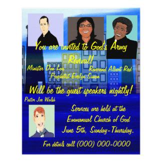 Insecto do renascimento da igreja panfleto personalizado