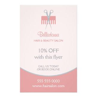 Insecto do salão de beleza do cabeleireiro panfletos personalizado