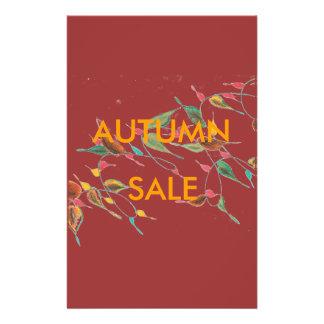 Insecto frondoso da venda do outono da videira panfleto personalizados