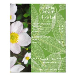 Insecto holístico verde da tabela de preços da saú panfleto personalizados
