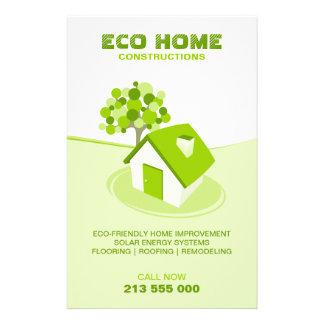 Insecto Home verde dos bens imobiliários/construçã Panfleto