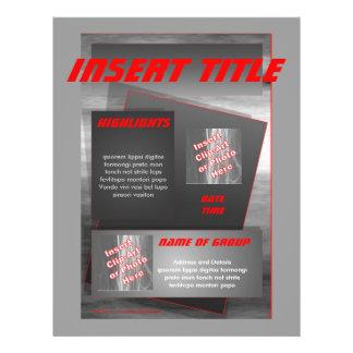 Insecto - metal modelos de panfleto
