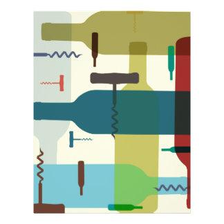 Insecto temático da garrafa de vinho panfleto personalizados