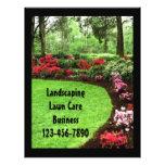 Insecto verde do negócio do cuidado do gramado da panfleto personalizado