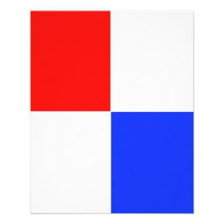 Insecto vermelho, branco & azul AJUSTÁVEL Panfleto Personalizado