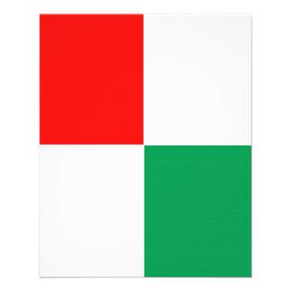 Insecto vermelho, branco & verde AJUSTÁVEL Modelo De Panfleto