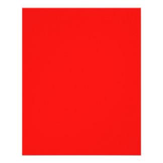 Insecto vermelho de néon brilhante panfleto personalizado