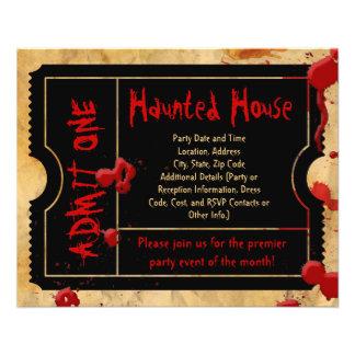 Insectos assombrados da casa do sangue do bilhete panfletos personalizados