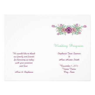 Insectos florais do programa do casamento do flyer