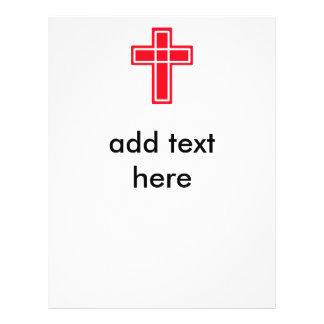 Insectos transversais vermelhos e brancos cristãos panfleto personalizados