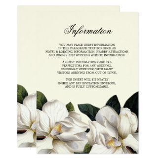Inserção botânica do sul da informação do convite 11.30 x 15.87cm