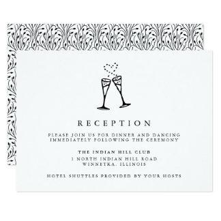 Inserção da recepção de casamento do pop | de convite 8.89 x 12.7cm