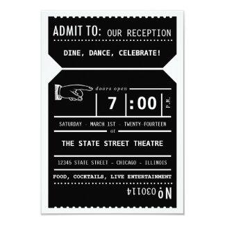 Inserção da recepção do bilhete de teatro do convite 8.89 x 12.7cm