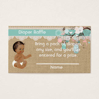 Inserção do Raffle da fralda do bebê do Cartão De Visitas