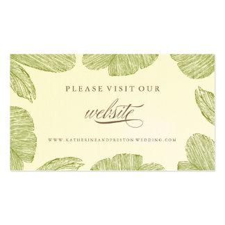 Inserção do Web site do casamento do destino da Cartão De Visita