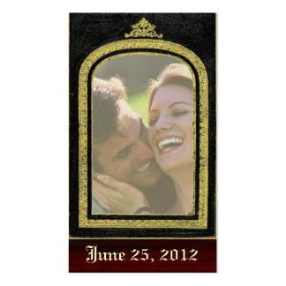 Inserção régia da foto dos cartões salve a data do cartão de visita