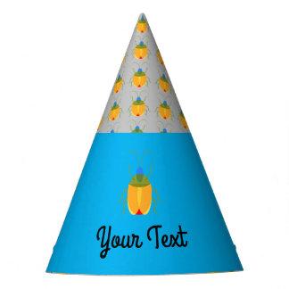 Inseto colorido chapéu de festa